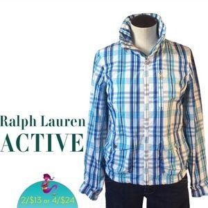 🧞♀️Ralph Lauren Active plaid coat jacket Sz S